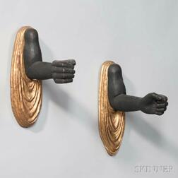 Pair of Italian Rococo-style Blackamoor Wall Candle Sconces