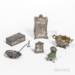 Six Pieces of Continental Silver