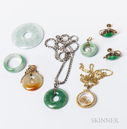 Group of Jadeite Jewelry