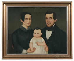 American School, 19th Century      Portrait of the Church Family