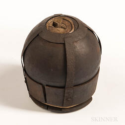 Twelve-pound Spherical Shell, Straps, and Sabot