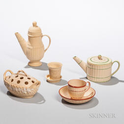 Five Small Wedgwood Caneware Items