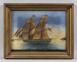 George Ropes (New York/Massachusetts, 1788-1819)      Portrait of the Sailing Ship Lion of Salem