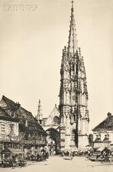 Samuel V. Chamberlain (American, 1895-1975)      Lot of Three Views of French Towers: Verneuil