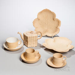Six Wedgwood and Turner Caneware Items