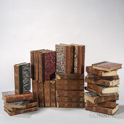 Decorative Bindings, Sets, Forty Volumes, French Literature