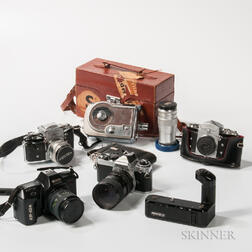 Group of Cameras and Accessories