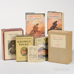 Roberts, Kenneth (1885-1957) Lot of Signed Books, First Editions, and Signed Notes.