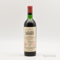 Chateau Grand Puy Lacoste 1970, 1 bottle