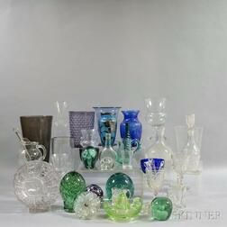 Large Group of Glass Tableware