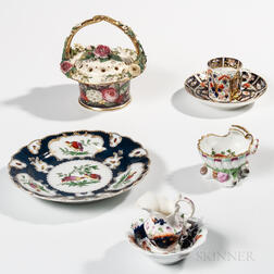 Five Porcelain Table Items