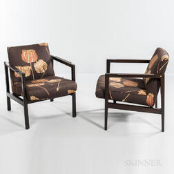 Two Edward Wormley for Dunbar Lounge Chairs