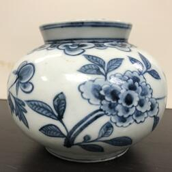 Small Blue and White Jar