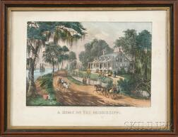 Currier & Ives, publishers (American, 1857-1907)      A HOME ON THE MISSISSIPPI.