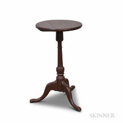 Queen Anne Brown-painted Maple Candlestand