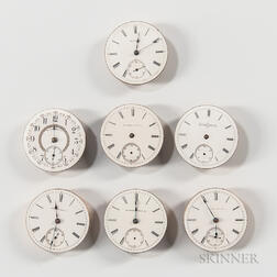 "Seven Model ""1"" 18 Size Illinois Movements and Dials"