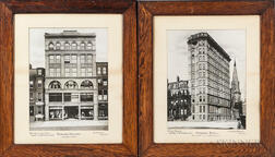 Two Large Format Photographs of Boston Buildings