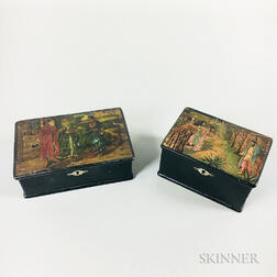 Two Russian Lacquered Boxes