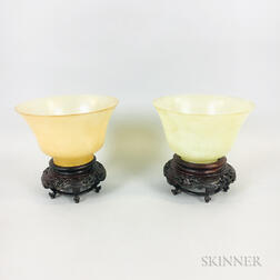 Pair of Hardstone Cups