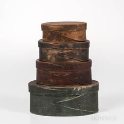 Stack of Four Painted Pantry Boxes