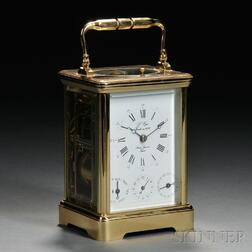 L' Epee Hour Repeat, Day, Date, and Alarm Carriage Clock