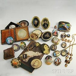 Group of Jewelry and Portrait Miniatures
