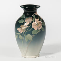 Constance A. Baker for Rookwood Pottery Iris Glaze Rose Vase