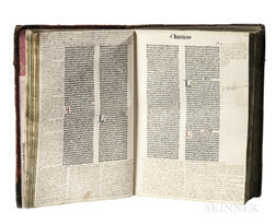 Biblia Latina with Extensive Contemporary Marginalia.