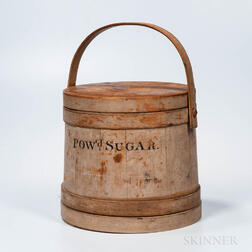 "White-painted ""Powd Sugar"" Covered Pail"