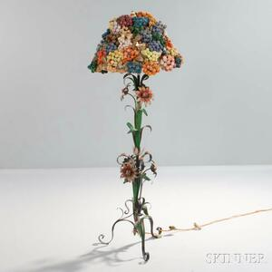 Floral Floor Lamp with Fruit Shade