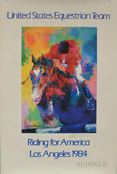 Two Posters from the 1984 Los Angeles Olympics:      Lynda Benglis (American, b. 1941), Untitled