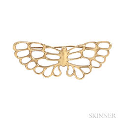 18kt Gold Brooch, Angela Cummings