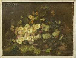 Continental School, 19th/20th Century    Still Life with a Profusion of Flowers