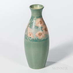 Edward Diers for Rookwood Pottery Vellum Rose Vase