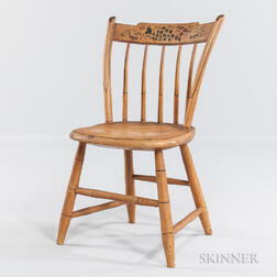 Child's Yellow-painted Tablet-back Windsor Chair