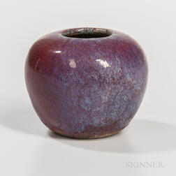 Miniature Flambe-glazed Water Pot