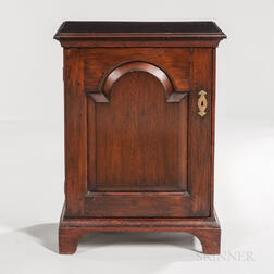Large Carved and Inlaid Walnut Spice or Valuables Cabinet