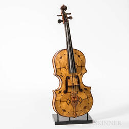 Folk Art Matchstick Violin