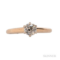 14kt Gold and Diamond Solitaire