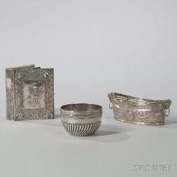 Three Pieces of English and European Silver Tableware