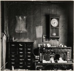 Walker Evans (American, 1903-1975)  A Corner of the Front Office at Howell Manufacturing Co., Cincinnati, Made for the Fortune Magazine