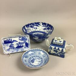 Four Blue and White Wares