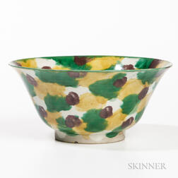 Sancai-glazed Bowl
