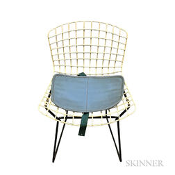 Child's White Harry Bertoia Chair with Pad