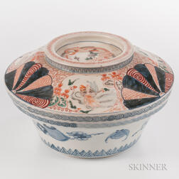 Large Imari Bowl and Cover