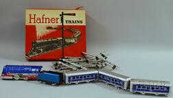 Hafner Wind-up Tin Locomotive Train Set