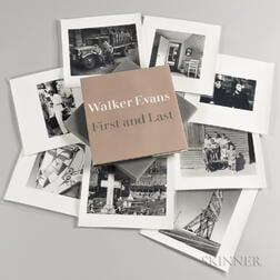 Evans, Walker (1903-1975) Walker Evans: First and Last  , [together with] Eight Additional Photographic Prints.