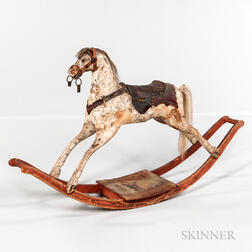 Paint-decorated Rocking Horse