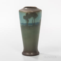 Lenore Asbury for Rookwood Pottery Vellum Landscape Vase