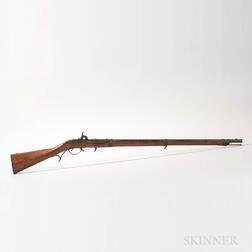 U.S. Model 1819 Hall Breech Loading Rifle, Second Production Type, Arsenal Converted to Percussion